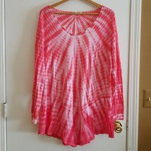 Flowey tie-dye tunic